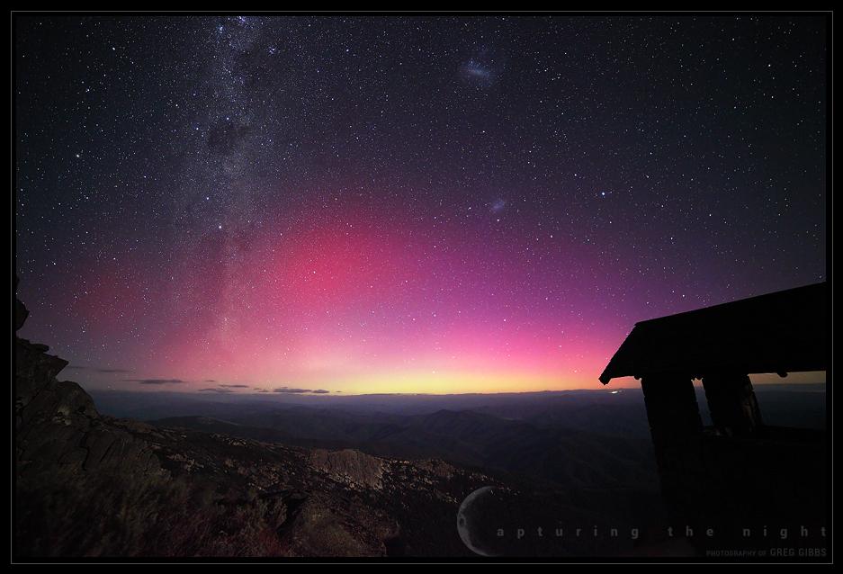 Aurora In The Alps